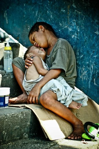 Life really is like this for Philippino street children.