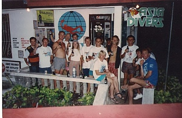 Asia Divers and El Galleon in the early days