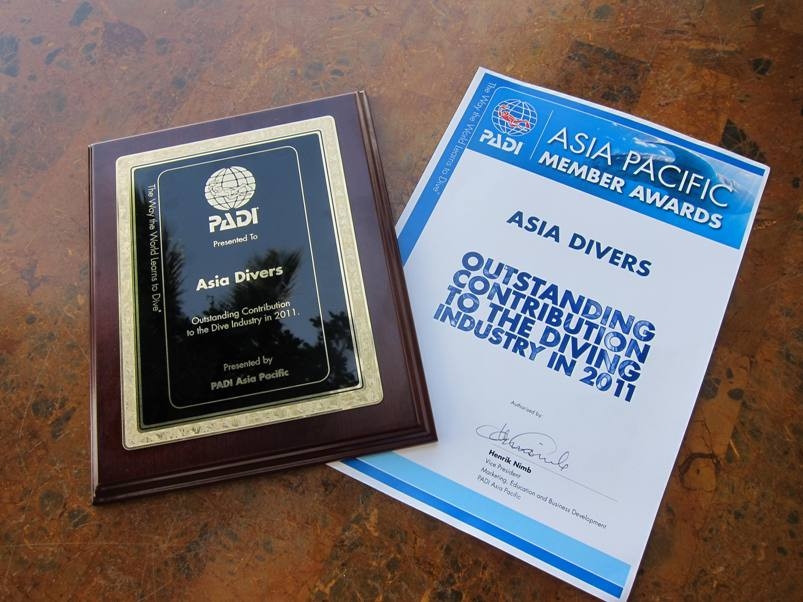 Asia Divers get new PADI award
