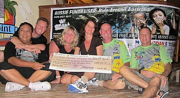 Money collected for Philippine street children